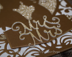 MR & MRS WORD DIE - Gina Marie Designs