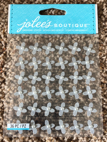 WEDDING GEM FLOWERS - Jolee's Boutique Stickers