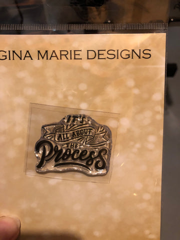 IT'S ALL ABOUT THE PROCESS STAMP SET - Gina Marie Designs