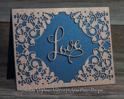 FLOURISH OPEN CENTER BKGD DIE - Gina Marie Designs