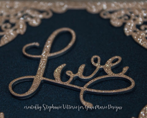 LOVE WORD DIE - Gina Marie Designs