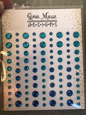 TYCOON BLUE MIRROR FOIL STYLE ENAMEL DOTS - Gina Marie Designs