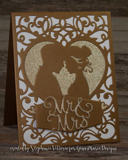 WEDDING COUPLE BKGD DIE - Gina Marie Designs