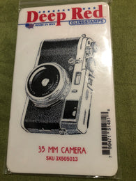 35 MM CAMERA - DEEP RED RUBBER STAMPS