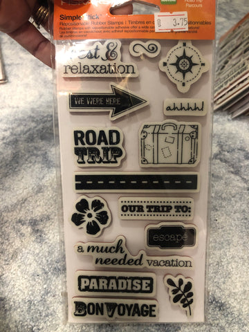 ROAD TRIP - FISKARS CLING STAMPS