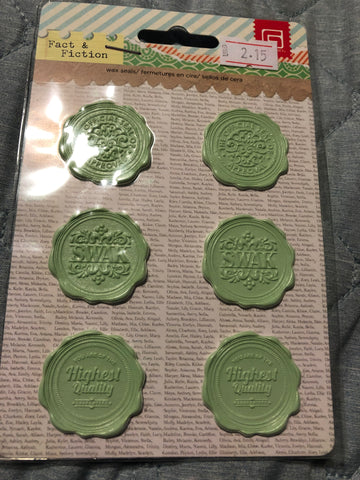 FACT & FICTION WAX SEALS - BASIC GREY