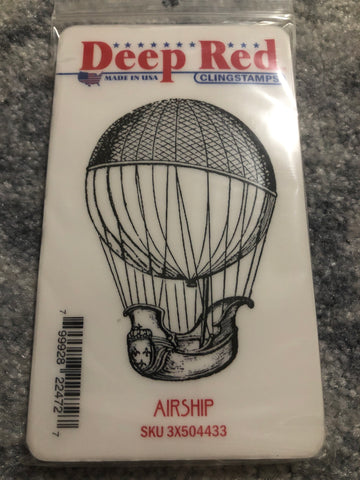 AIRSHIP - DEEP RED RUBBER STAMPS