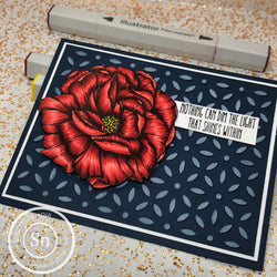 DECO FLOWER BKGD PLATE DIE - GINA MARIE DESIGNS
