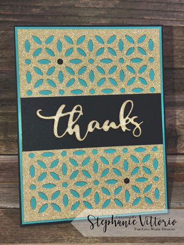 THANKS WORD DIE - GINA MARIE DESIGNS