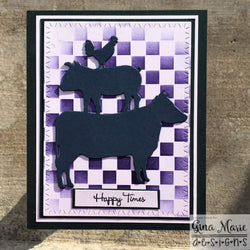 CHECKER BOARD STENCIL - Gina Marie Designs