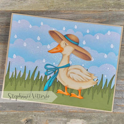 DUCK UMBRELLA GULASHES PUDDLE DIE SET - GINA MARIE DESIGNS
