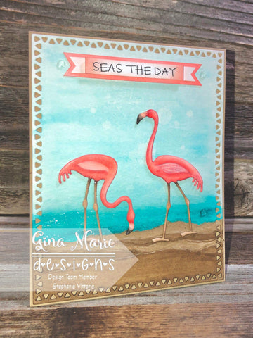 MOSAIC TRIANGLE EDGE RECTANGLE DIE SET - Gina Marie Designs