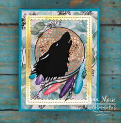 DREAM CATCHER WOLF DIE - GINA MARIE DESIGNS
