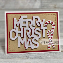 MERRY CHRISTMAS WORD DIE - Gina Marie Designs