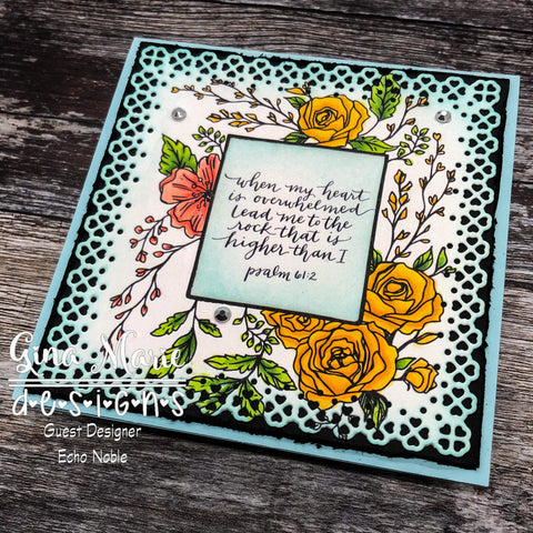 MINI HEART LACE SQUARE DIE SET - Gina Marie Designs