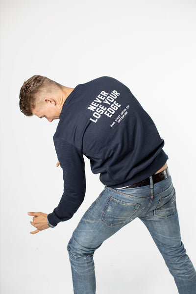 "RSC Sweatshirt Navy ""Never Lose Your Edge"""