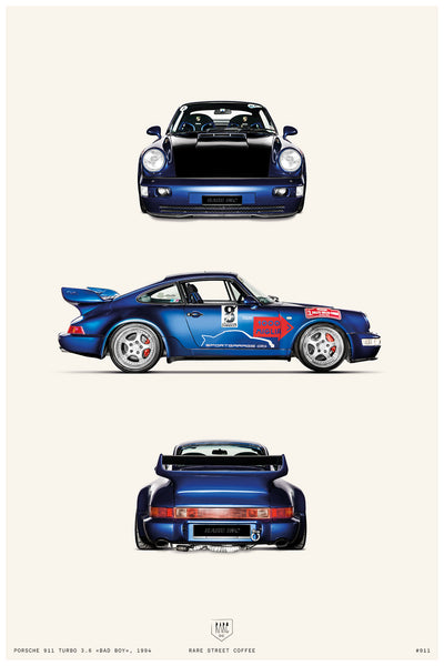 POSTER PORSCHE 911 TURBO 3.6 «BAD BOY»