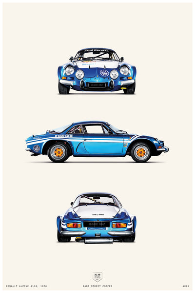 POSTER RENAULT ALPINE A110