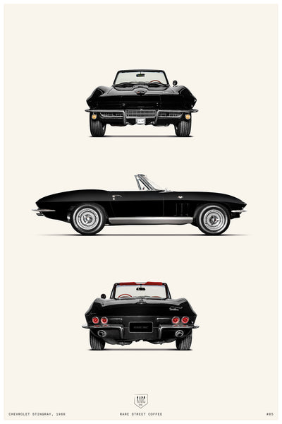 POSTER CHEVROLET STINGRAY
