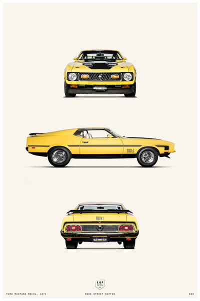 POSTER FORD MUSTANG MACH1