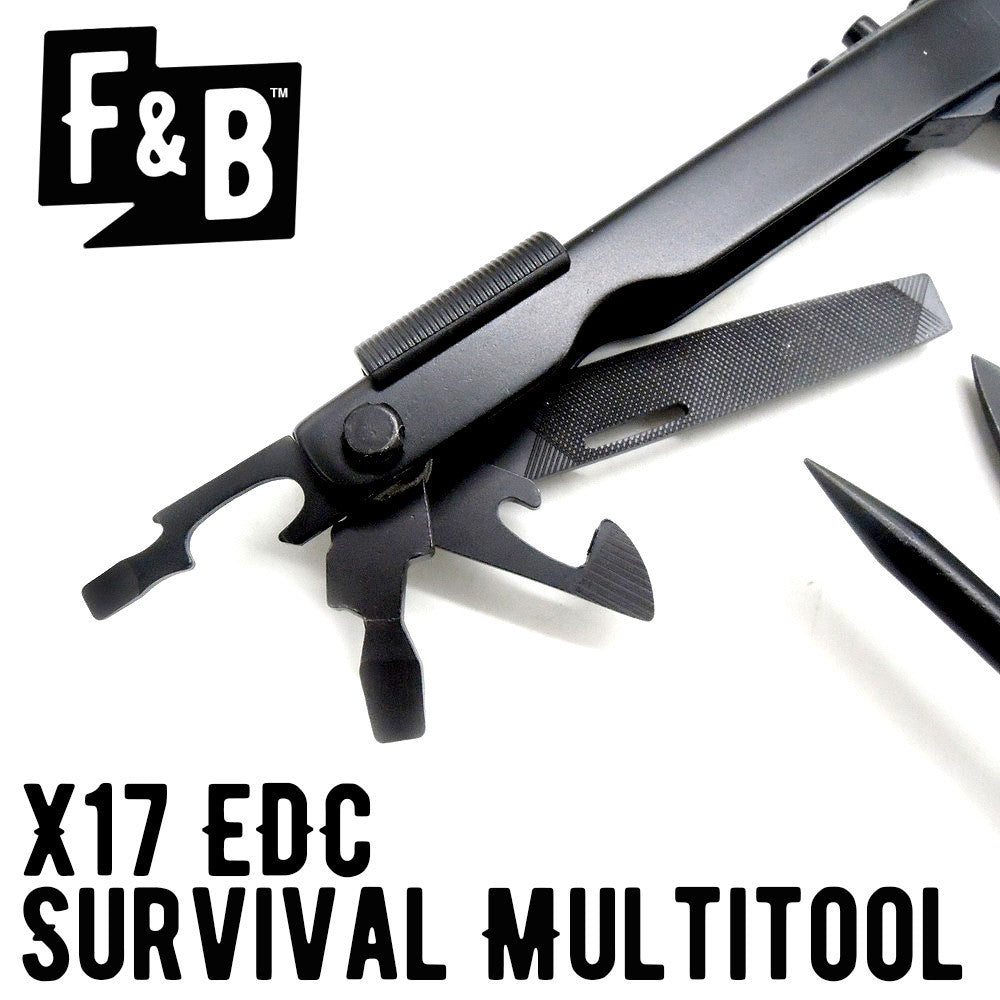 X17 EDC Survival Multitool (Matte Black)