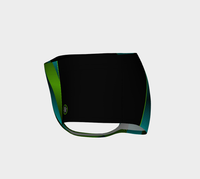 Ombre Stripe Black Green Turquoise