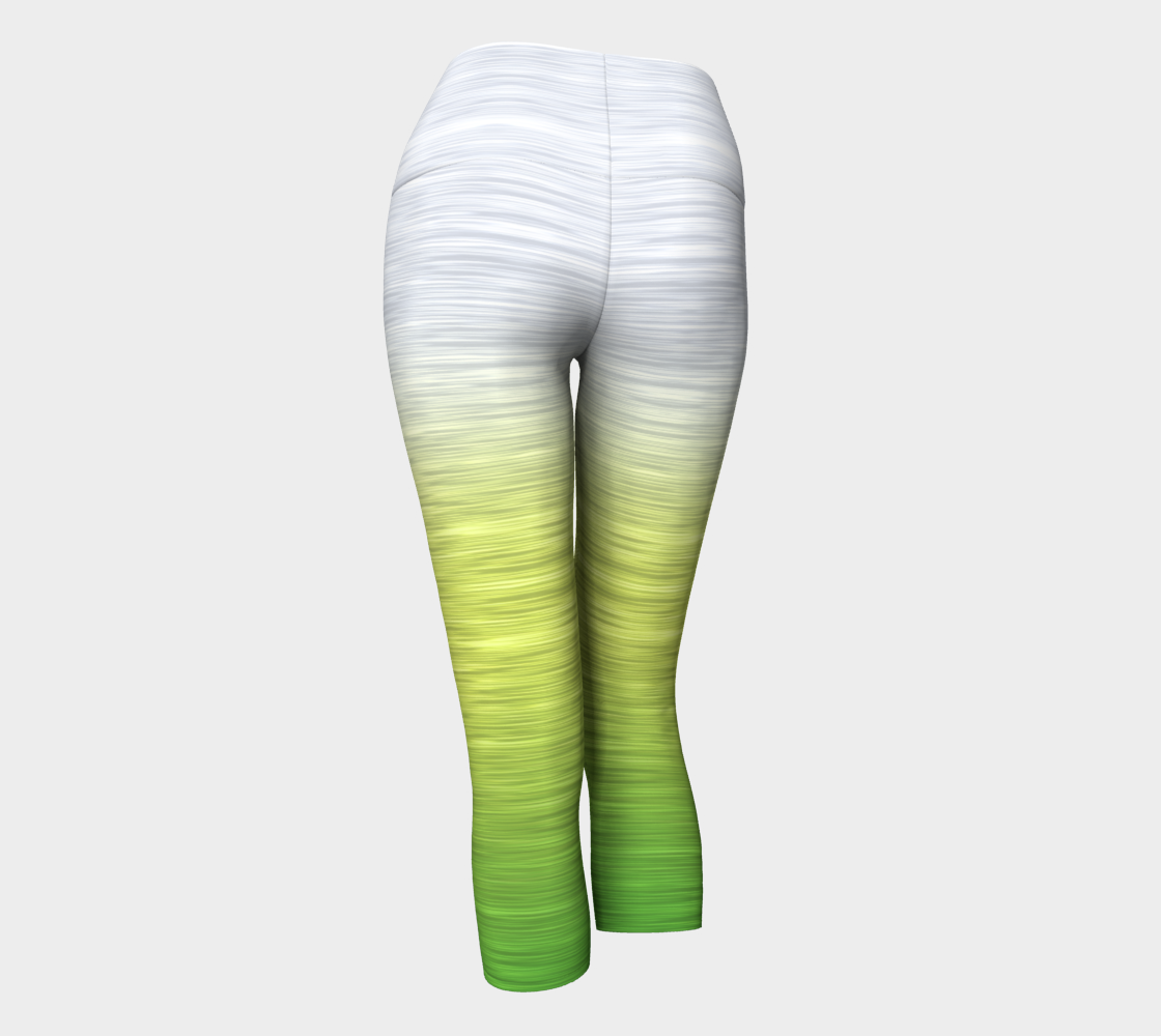 White Yellow Green Ombre
