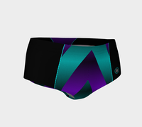 Ombre Stripe Black Turquoise Violet