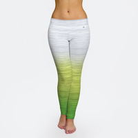 Rainbow Ombre White Yellow Green