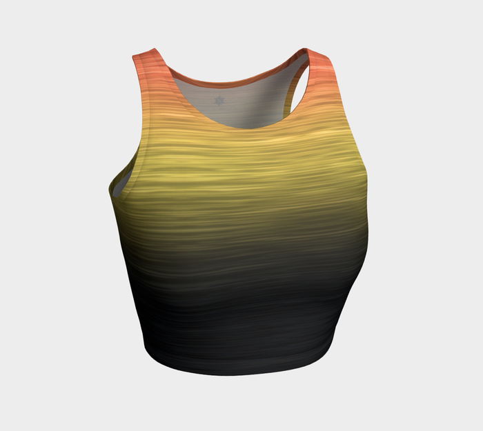 Rainbow Ombre Black Yellow Peach