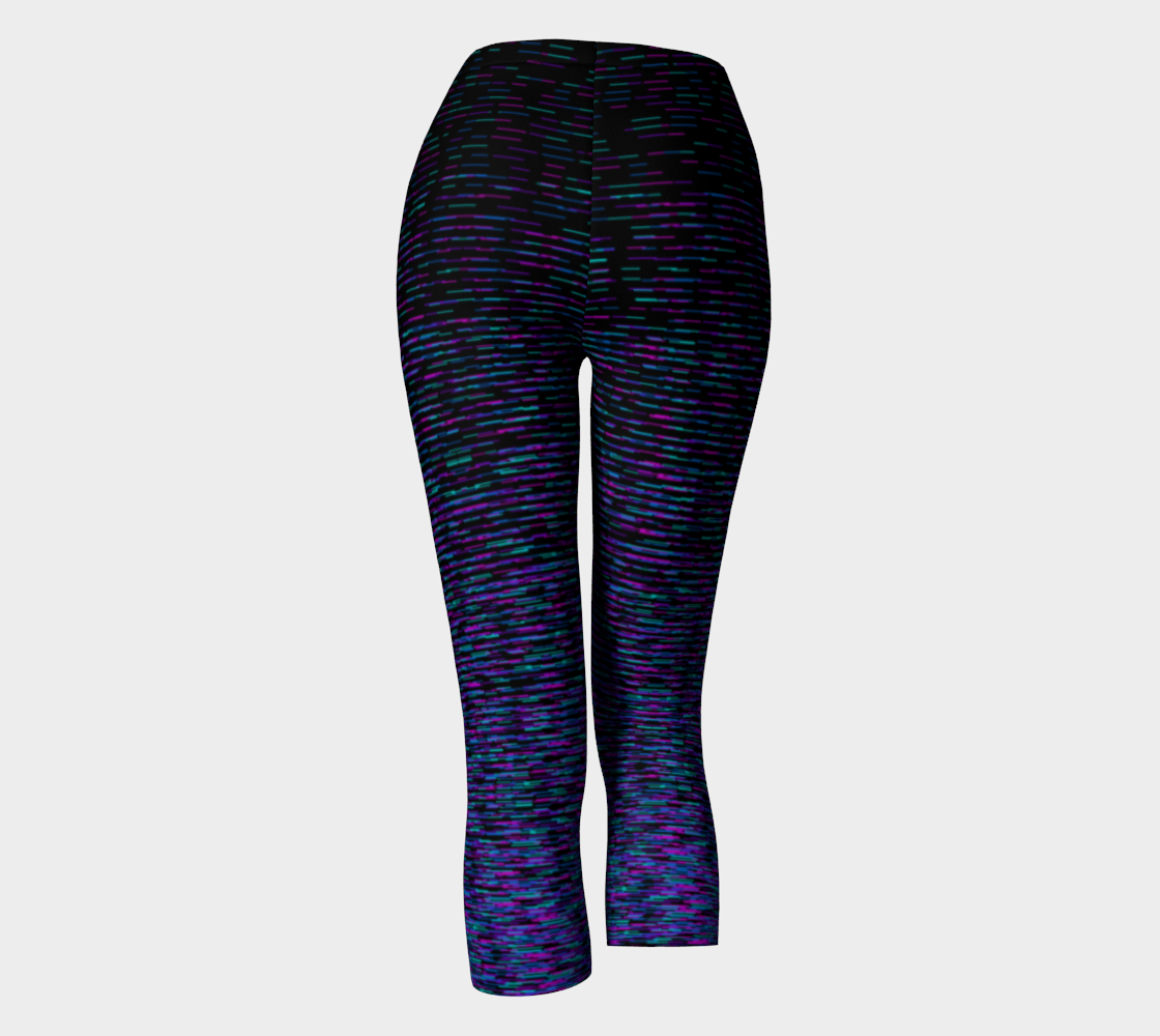 Space Dyed Black Blue Violet Fuchsia