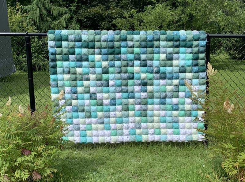 Ombre Puff Quilt