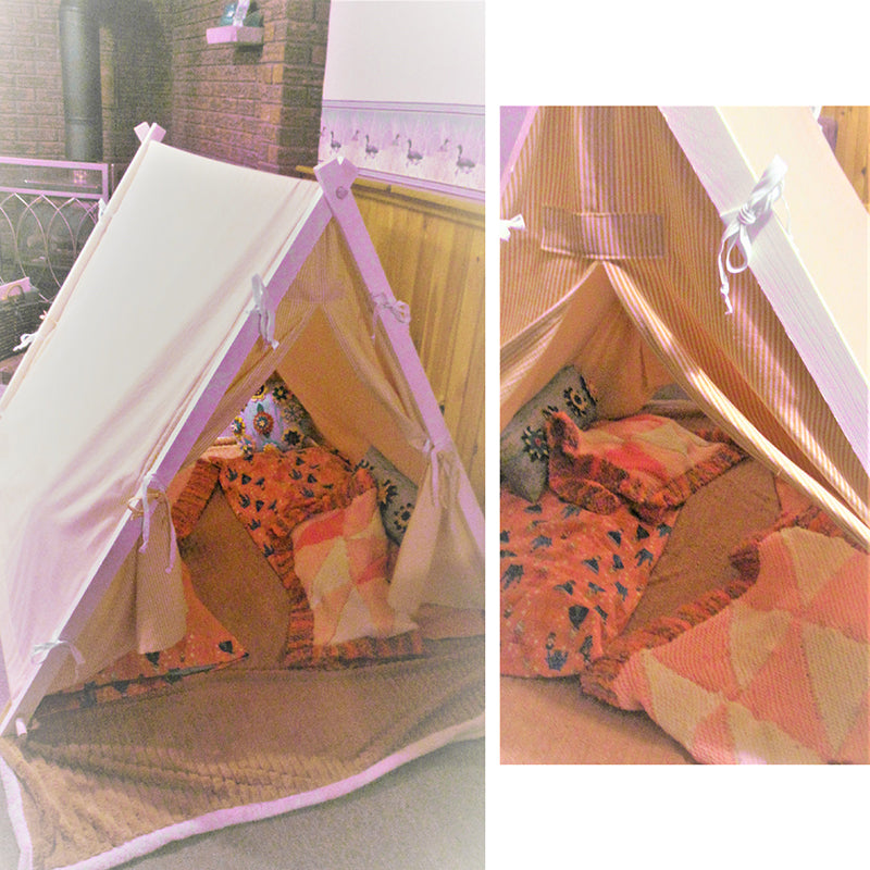 Child Tent with Handmade Accessories