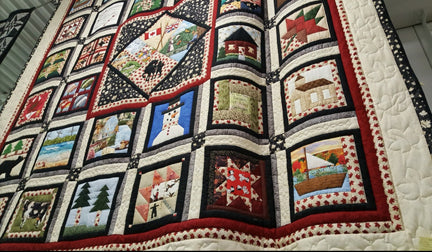 Quilt Display in the Barrie Lens Mill Store on St Vincent St
