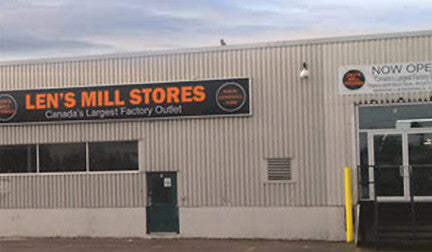 External view of the Len's Mill Store location in Barrie