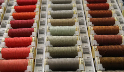 Selection of Gutermann threads available at Len's Mill Store in Brantford