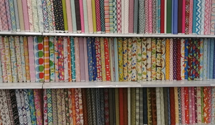 Stripes, Chevrons and other patterns of quilting cotton fabric available at the Cambridge Len's Mill Store on Groh Ave