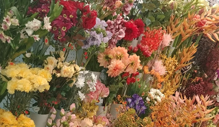 Artificial flowers available at the Cambridge Len's Mill Store on Groh Ave