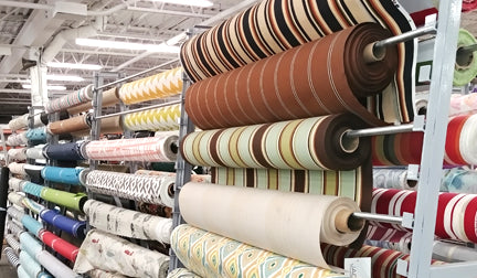 Outdoor canvas fabric, at the Cambridge Len's Mill Store on Groh Ave