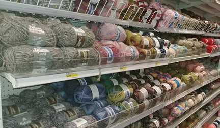 Patons, James C Brett, and other brands of yarn available at Len's Mill Store in Cambridge