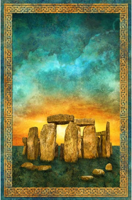 Northcott Stonehenge fabric panel Solstice DP39427-69