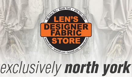 Lens Designer Fabric Store - Designer Fabrics exclusively at the Len's North York location