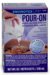 Pour-on high gloss finish kits in two size options
