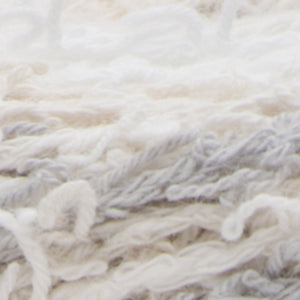 Ball of Scrub Off yarn in shade linen (whites and greys)