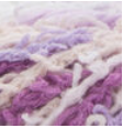 Scrub Off yarn swatch in shade pretty purple (white, light to dark purple shades)