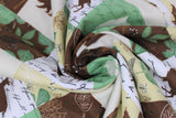 Swirled swatch wood patch flannel fabric (woodland creature silhouettes, nature themed patches)