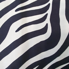 Swatch of large zebra print