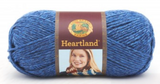 Ball of Lion Brand Heartland in colourway Olympic (heathered royal blue)
