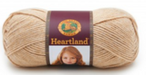 Ball of Lion Brand Heartland in colourway Great Sand Dune (heathered tan)