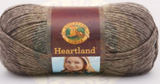 Ball of Lion Brand Heartland in colourway Mammoth Cave (heathered mid brown)